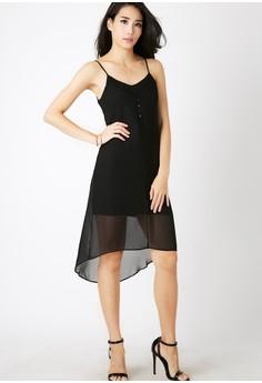 Twenteen's Endearment Pleating Neckline Dress