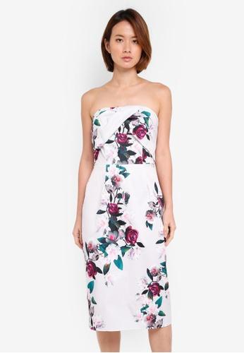 Dorothy Perkins grey Bardot Floral Pencil Dress 2DBADAA0A979D4GS_1