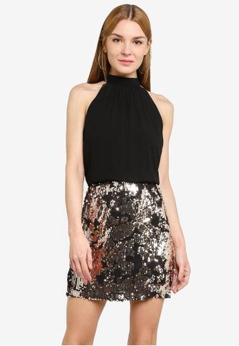 JACQUELINE DE YONG black Lola Highneck Dress 4617CAA8CBFECFGS_1