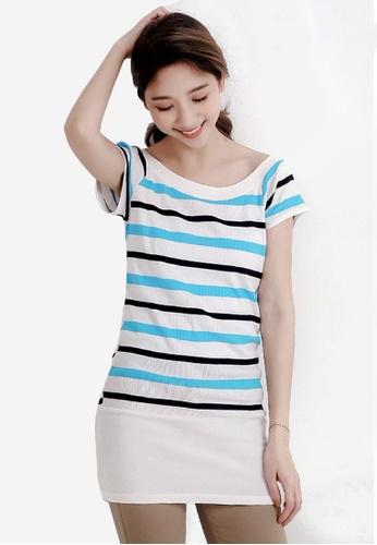 Sesura blue Leisurely Casual Stripes Dress CE303AA1A1FB1CGS_1