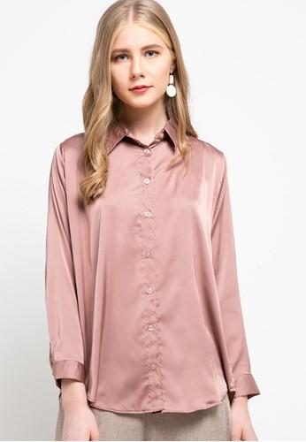Magnificents Ladies pink Armiani Luxury Shirt 5365CAAB3BA8BBGS_1