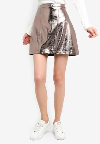 Abercrombie & Fitch silver Metallic Mini Skirt 5B877AACC38B98GS_1