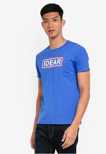 Fidelio 藍色 休閒印花T恤 76B57AA2A9E975GS_1