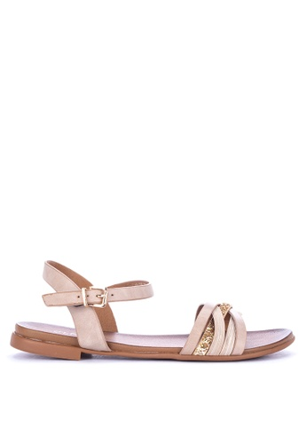 a265411560e Shop CLN Chloe Flat Ankle Strap Sandals Online on ZALORA Philippines