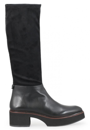 Shu Talk 黑色 絨面真皮皮革低跟女鞋靴 SH544SH099YGTW_1