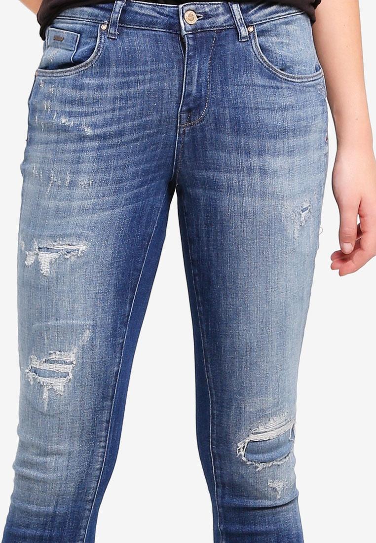 ONLY Patch Denim Blue Relax Medium Denim Destroy Jeans rpxzrqvgFw