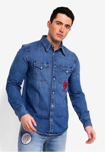 8f9305d9 Calvin Klein blue Foundation Western Shirt - Calvin Klein Jeans  43498AA6E3CA8FGS_1