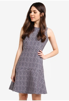 39619458cf6c9f J.Crew multi and navy Piper Foulard A-Line Dress BC995AAC366FE1GS 1