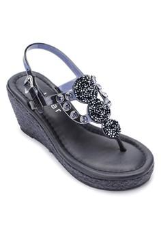 Cinderella Wedge Sandals