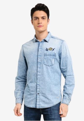 ESPRIT blue Denim Long Sleeve Shirt E9DC9AA360AFF4GS_1