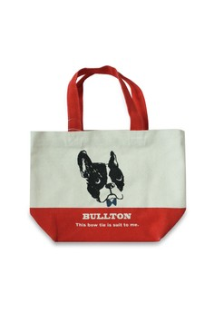 Bullton Dog With Bow Mini Lunch Tote Bag