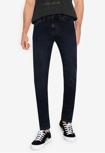 Springfield blue Dark Wash Slim Fit Jeans F7C4BAA60289B8GS_1