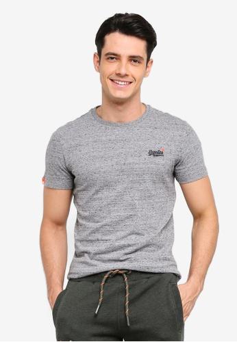 Superdry 灰色 復古刺繡T恤 55EAAAAC96854AGS_1