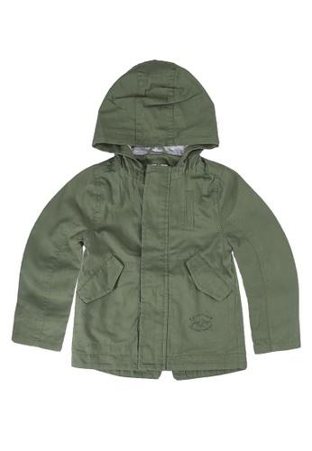 LC Waikiki green Zip-Down Coat with Hoodie 735D5KA438F1E7GS_1