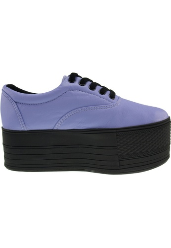 Maxstar purple Maxstar Women's C60 5 Holes Platform PU Low Top Sneakers US Women Size MA164SH97PQOSG_1