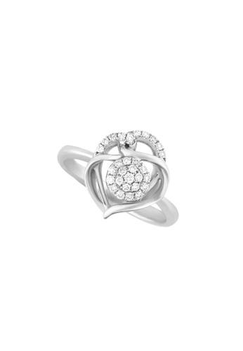 TOMEI white TOMEI Marquetry of Glamorous Sparkles Ring, Diamond White Gold 375 (R3968) Size 14 158C6AC6C6A2ADGS_1