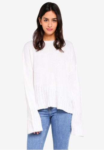 Cotton On white Ainsley Asym Rib Hem Pullover 36CA6AACA16379GS_1