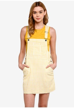 45dff376 Cotton On yellow Woven Charlotte Pinafore Dress 1303AAA352ED91GS_1