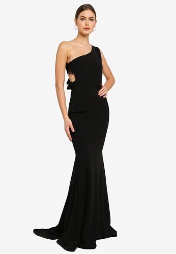 MISSGUIDED black Lace Strap Maxi Dress 924F6AA20DAF58GS_1