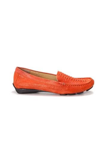 Shu Talk 橘色 AMAZTEP 大熱舒服真皮輕便鞋(適合腳型偏窄) 691B9SH3FEF461GS_1