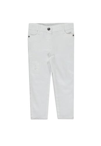 LC Waikiki white Baby Girl's Gabardine Trousers 9D61BKACE9166AGS_1
