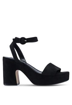 c84e9f1da026 MANGO black Platform Ankle-Cuff Platform Heels D3DDESHE915504GS 1