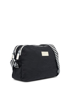 10% OFF Bagstationz Crinkled Nylon Dual Zip Sling Bag With Zebra Strap RM  99.00 NOW RM 89.10 Sizes One Size 8e9aa6813cbed