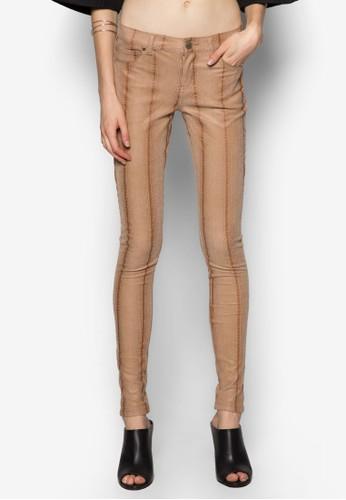 Pyth 仿蛇皮紋緊身長褲, zalora 台灣服飾, 服飾