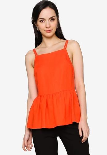 Origin by Zalora orange Ruffle Hem Sun Top made from TENCEL™ C2FC8AA211AC49GS_1