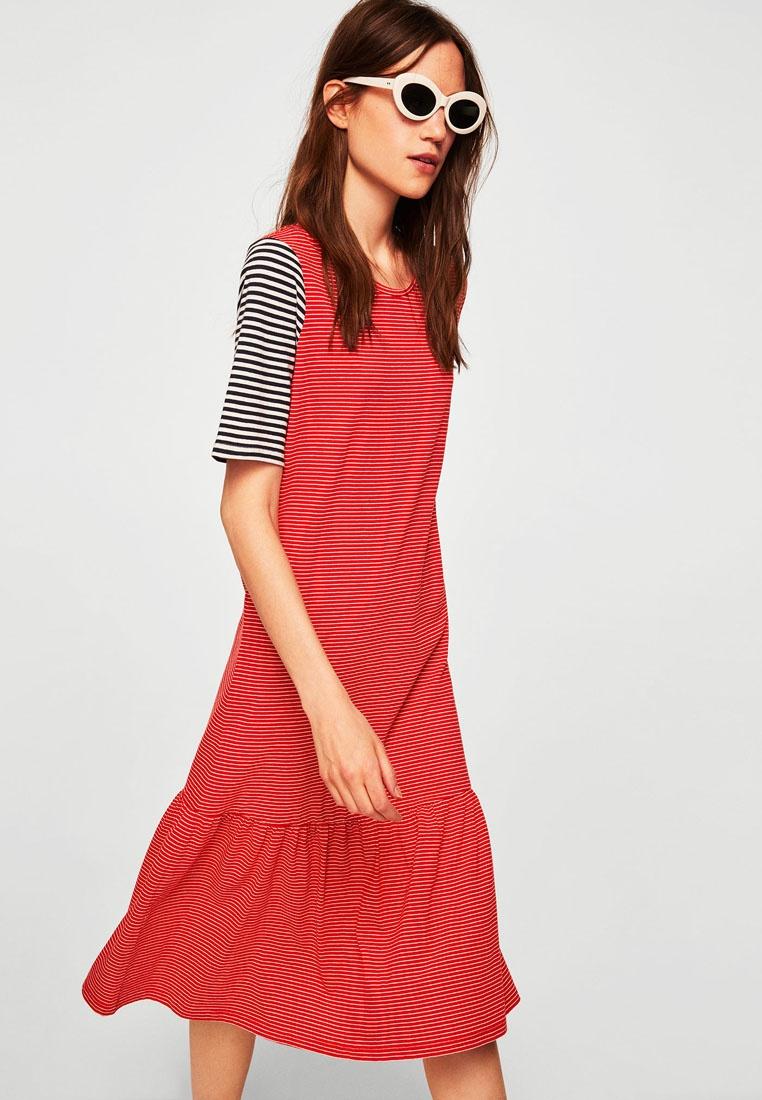 41c2be1e63b ... Striped Cotton Red Cotton Dress Mango Striped Dress q0UqT ...