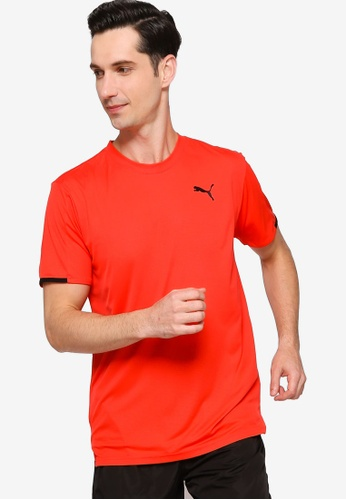 Puma red Graphic Short Sleeve Men's Training Tee 1B752AAB9CD169GS_1