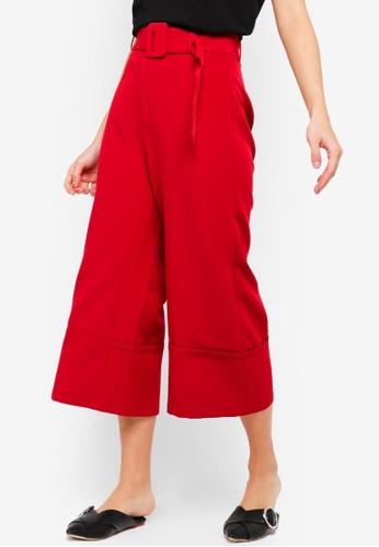 ZALORA red Wide Leg Pants F07D4AA22BD076GS_1