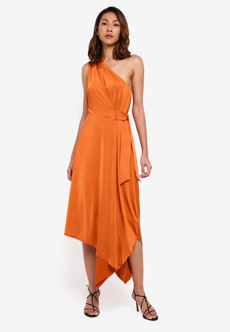 Asymmetric Dress One Shoulder Copper WAREHOUSE Colour 4YvOq
