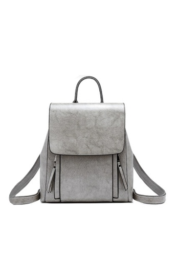 Twenty Eight Shoes grey VANSA Vintage Burnished Leather Backpacks VBW-Bp586 13A1BAC8852214GS_1