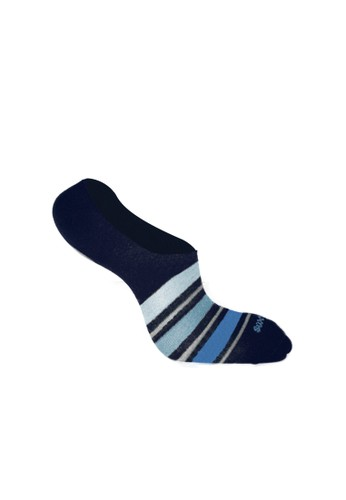 SOXGALERI blue Sox galeri Men Cotton Casual Hidden Socks - Stripe E89BEAA36E079FGS_1