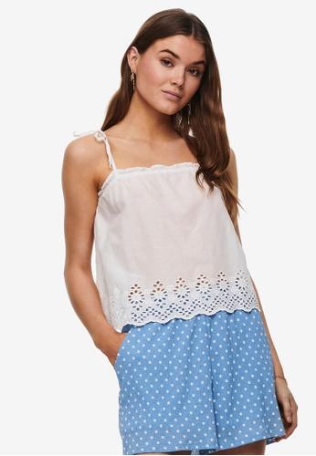 ONLY white Carlotta Tie Singlet 73B67AA13AD351GS_1