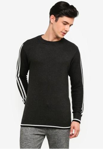 OVS grey Side Stripe Pullover 153D8AAB5DBF9EGS_1