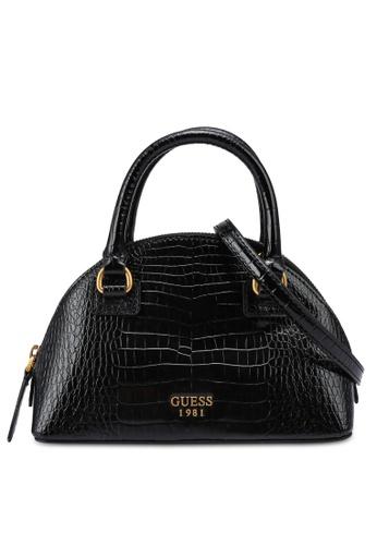 Guess black Shilah Small Top Handle Bag 78FCCAC1823654GS_1