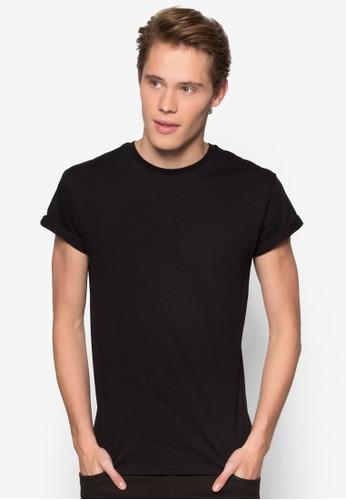 簡約捲袖Tesprit tw 恤, 服飾, T恤