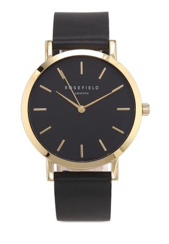 buy rosefield the gramercy black black gold watch zalora hk
