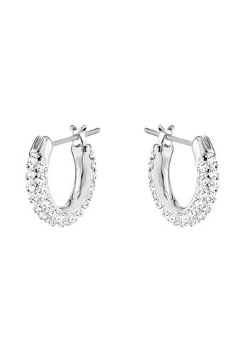 Swarovski silver Stone Small Pierced Earrings 6BF29AC6F9A598GS_1