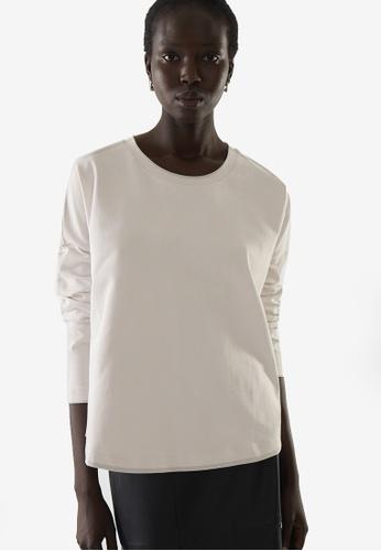COS white Boxy Long-Sleeve Top 6E825AA438935DGS_1
