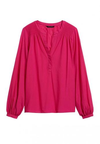 Banana Republic pink Cotton Balloon-Sleeve Top 12A0EAA4F54C75GS_1