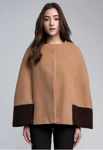 雙色裹身斗篷,esprit hk outlet 服飾, 外套
