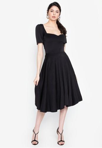 Heather Clothing black Meet Me in Paris Puff Sleeved Dress F0820AA64E7EB1GS_1