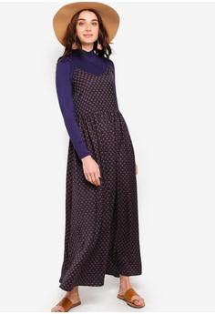 78829886532 Zalia green Cami Dress With High Neck Inner B5556AAB139253GS_1