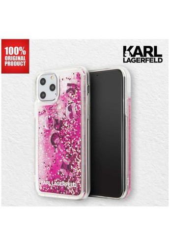 "KARL LAGERFELD pink Karl Lagerfeld IPhone 11 Pro Max 6.5"" - Transparent Glitter Float PInk 9F29DES05609BEGS_1"