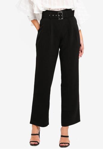 BYSI black Pleated Peg Leg Trouser 6AB58AA35C7464GS_1