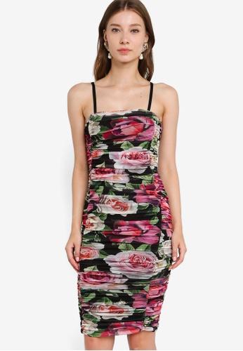 Lipsy multi Bardot Mesh Dress 59B99AA7EB5860GS_1