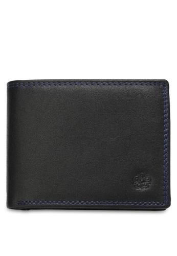Wild Channel black Men's Genuine Leather RFID Blocking Bi Fold Wallet A623DACEF72996GS_1